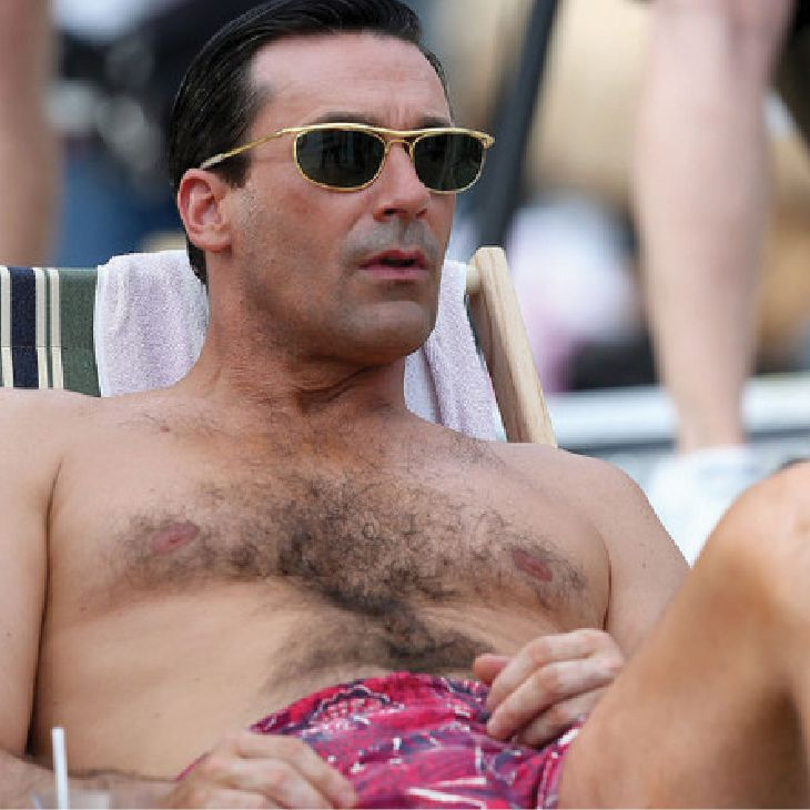 Jon Hamm | Hairy Male Celebrities | Nads for Men Hair Removal
