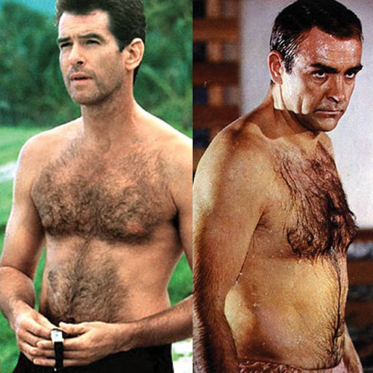Pierce Brosnan & Sean Connery | Hairy Male Celebrities | Nads for Men Hair Removal