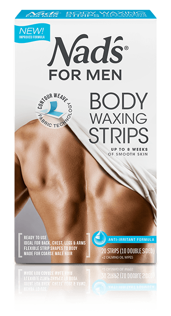 Nad's Hair Removal Body Wax Strips for Men | Nad's for Men