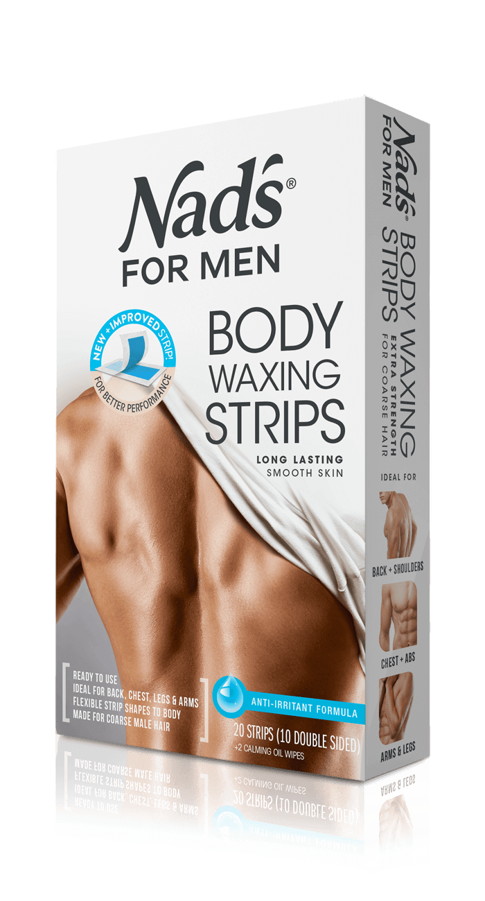 Nad S For Men Hair Removal Body Waxing Strips For Coarse Hair