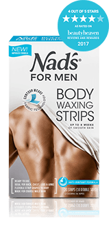 Nad's for Men Hair Removal Body Waxing Strips | For Coarse Hair